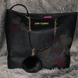 Betsey Johnson heart tote